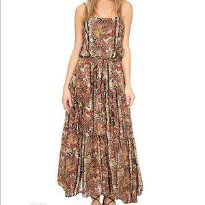 New Free People Valerie Floral Blouson Maxi Dress